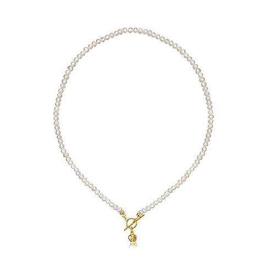 YorzAhar Small Freshwater Cultured Pearls Choker Necklaces Handpicked Pearls Strand Chain in AAA Quality for Women Jewelry