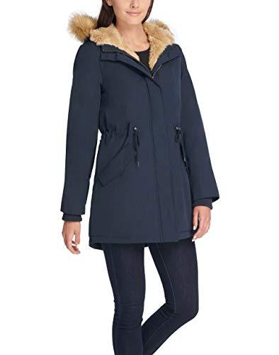 Levi's Women's Faux Fur Lined Hooded Parka Jacket (Standard and Plus Size), navy, Medium