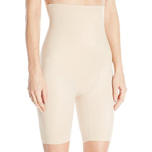 Naomi and Nicole Women's Back Magic Firm Control Hi-Waist Thigh Slimming Shapewear, Nude, Large