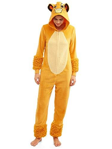 Disneys Lion King Simba Women's Licensed Union Suit (Large) Gold - PRTYA