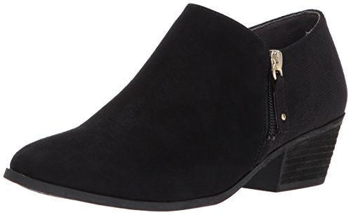 Dr. Scholl's Shoes Women's Brief Ankle Boot, Black Microfiber Suede, 9 M US