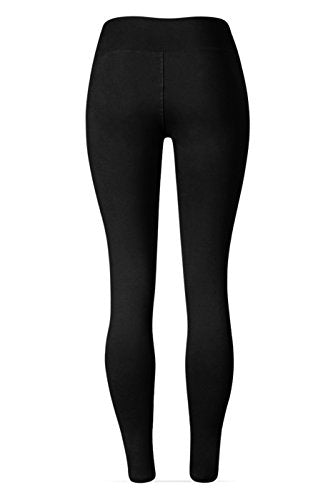 SATINA #1 High Waisted Buttery Soft Leggings | Regular and Plus Size | 22 Colors (One Size, Black)