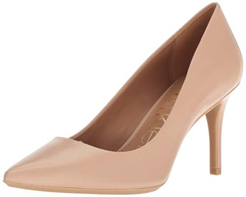 Calvin Klein Women's Gayle Pump, Desert Sand Leather, 8 Medium US