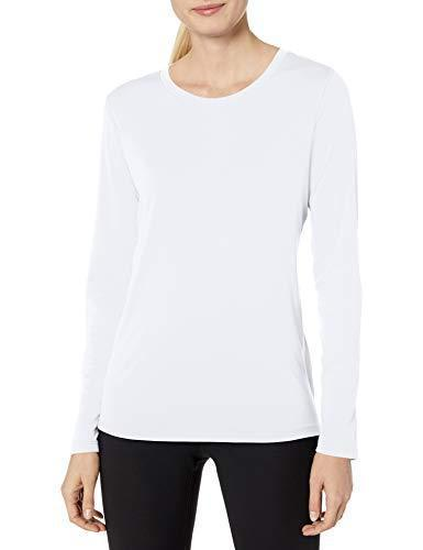 Hanes Women's Sport Cool Dri Performance Long Sleeve Tee, White, Small