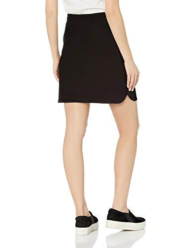 Amazon Brand - Daily Ritual Women's Terry Cotton and Modal Sweatshirt Skirt, Black, Medium - PRTYA