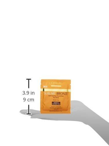 Self Tanner, L'Oreal Paris Sublime Bronze Self-Tanning Towelettes, Streak-Free, Natural Looking Tan, 6 ct.