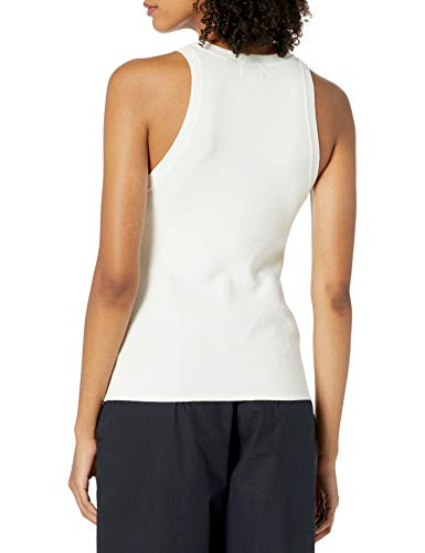 The Drop Women's Gina Fitted Sleeveless High Neck Cut-In Sweater Tank, Ivory, S