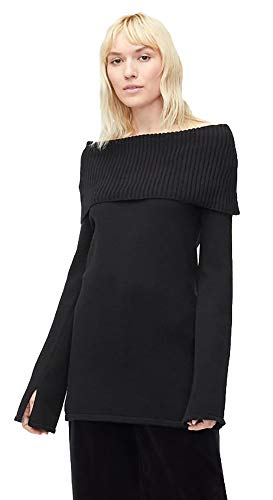 UGG Women's W RHODYN Off Shoulder Sweater, Black, M