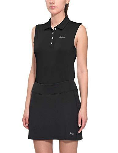 BALEAF Women's Golf Sleeveless Polo Shirts Tennis Tank Tops Quick Dry UPF 50+ Black Size XXL - PRTYA