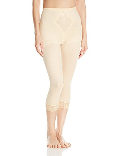 Rago Women's Medium Shaping Support Legging, Beige, X-Large (32)