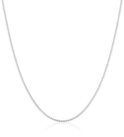 Sterling Silver Thin 0.6mm Box Chain Necklace, 18""
