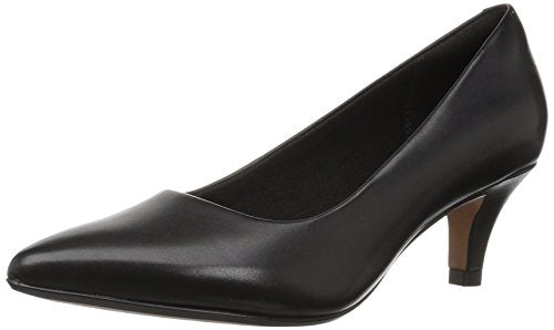 Clarks Women's Linvale Jerica Pump, Black Leather, 11 M US