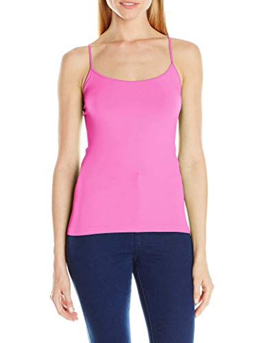 Sugarlips Women's Seamless Basic Cami Top, Rose/Pink, One Size