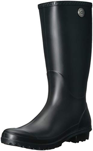 UGG Womens Shelby Matte Black Rain Boot - 10