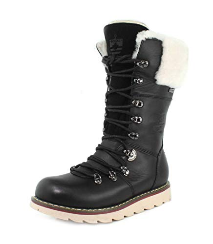 Royal Canadian Womens Castlegar Black Boot - 6.5