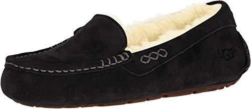 UGG Women's Ansley Moccasin, Black, 9
