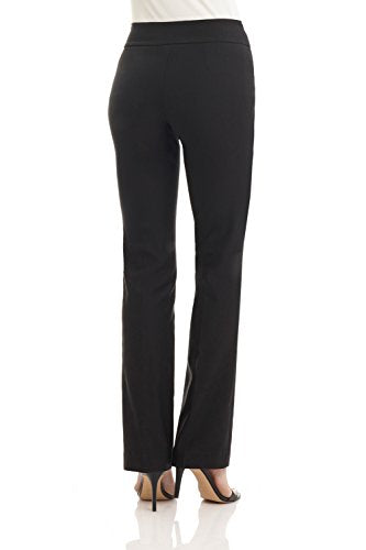Rekucci Women's Ease into Comfort Boot Cut Pant (12,Black)