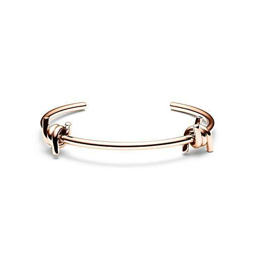 MVMT Women's Double Barbed Cuff Bracelet | Open Closure, Stainless Steel | Rose Gold