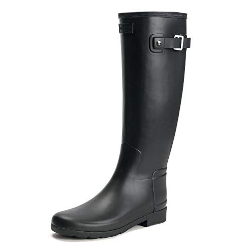 HUNTER Original Refined Rain Boots Black 8 M