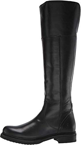 FRYE Women's Veronica Shearling Tall Snow Boot, Black, 7 M US