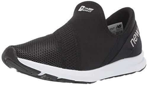 New Balance Women's FuelCore Nergize Slip-On V1 Sneaker, Black/White, 8 M US