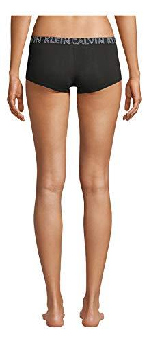 Calvin Klein Women's Ultimate Cotton Boyshort Panty, Black/Grey Heather, X-Large - PRTYA