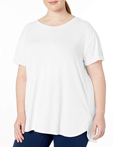 Amazon Essentials Women's Plus Size Studio Relaxed-Fit Lightweight Crewneck T-Shirt, White, 2X - PRTYA