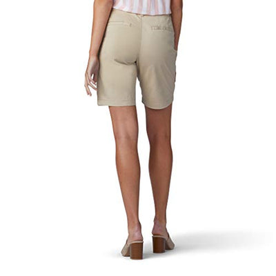 Lee Women's Regular Fit Chino Bermuda Short, Safari, 12