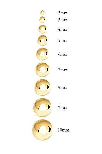 14K Yellow Gold Ball Stud Earrings (5mm - Yellow Gold)