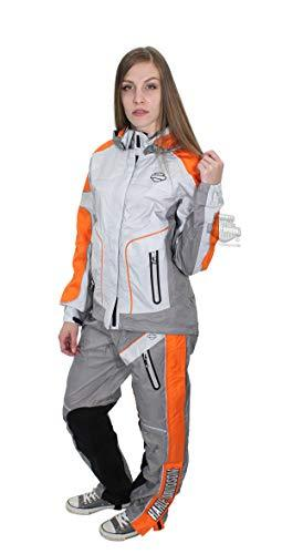 Harley-Davidson Womens Midpoint B&S Reflective Waterproof Grey Rain Suit 98203-17VW (X-Large)