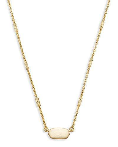 Kendra Scott Fern Pendant Necklace for Women, Dainty Fashion Jewelry, 14k Gold-Plated