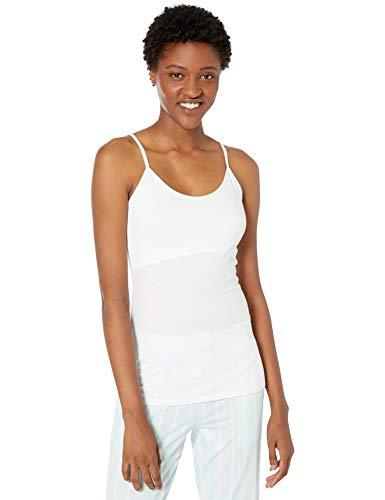 Amazon Brand - Mae Women's Cotton Modal Camisole, white, X-Small - PRTYA