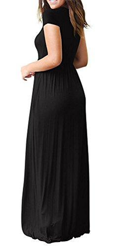 VIISHOW Women's Short Sleeve Loose Plain Maxi Dresses