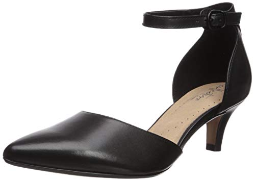 Clarks Women's Linvale Edyth Pump, Black Leather, 085 M US
