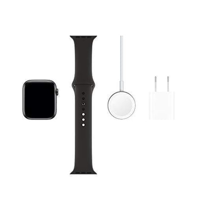Apple Watch Series 5 (GPS, 44mm) - Space Gray Aluminum Case with Black Sport Band - PRTYA