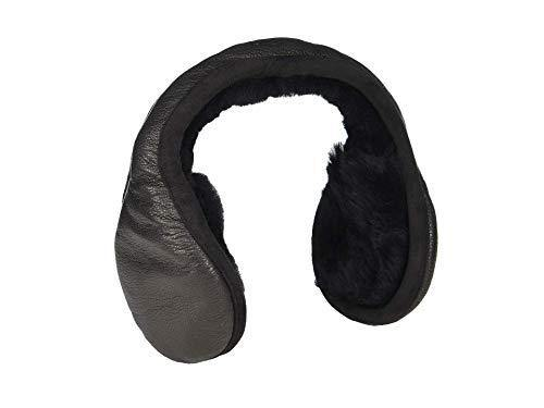 UGG Non-Tech Behind the Head Leather Earmuffs Black One Size