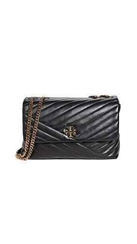 Tory Burch Women's Kira Chevron Convertible Shoulder Bag, Black, One Size