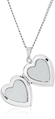 Sterling Silver Polished Heart Locket Necklace, 16""