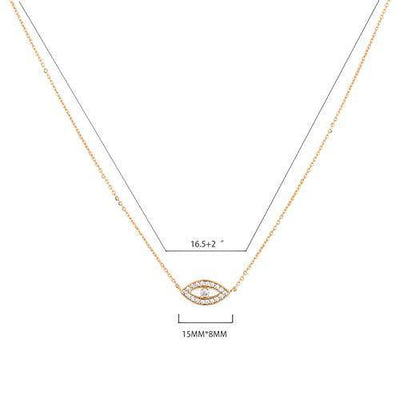 Mevecco Gold Dainty Evil Eye Necklace for Women,14K Gold Plated Cute Tiny Solitaire Cubic Zirconia Protection