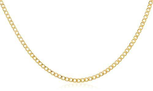 14K Yellow Gold 2.0mm Cuban/Curb Link Chain Necklace- Made in Italy-16-30 (Yellow, 22)