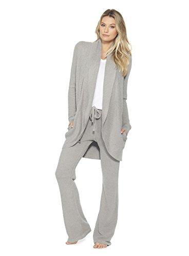 Barefoot Dreams Bamboo Chic Lite Circle Cardi,Pewter,Medium - PRTYA
