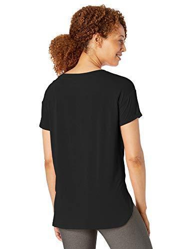 Amazon Essentials Women's Studio Relaxed-Fit Lightweight Crewneck T-Shirt, -black, Medium - PRTYA