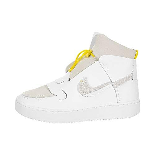 Nike Women's W VANDALISED Basketball Shoe, White White Chrome Yellow Black, 6 UK - PRTYA