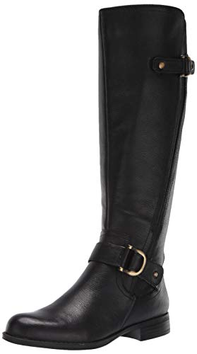 Naturalizer Women's Jillian Knee High Boot, Black Wide Calf, 9.5