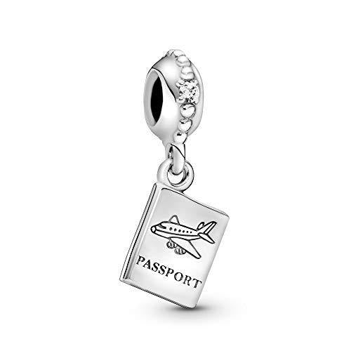 Pandora Jewelry Passport Travel Dangle Cubic Zirconia Charm in Sterling Silver