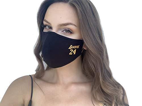 Reusable and Washable Unisex Fashion Cloth Face Mask with Adjustable Straps (Lakers)