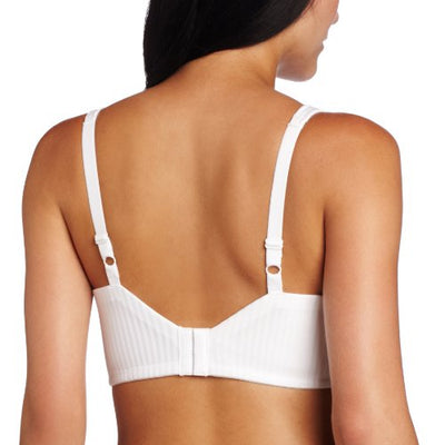 Playtex Women's Secrets Perfectly Smooth Wire Free Full Coverage Bra #4707,White Stripe,36C