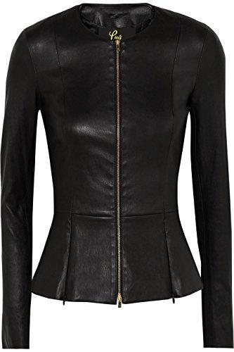 Captain Cory Womens Drowned Black Biker Lambskin Genuine Leather Jacket, Biker Jacket - PRTYA