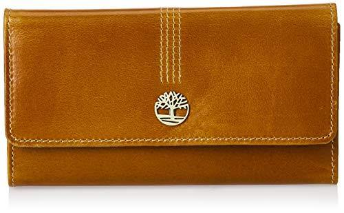 Timberland Leather RFID Flap Wallet Clutch Organizer, Cognac (Buff Apache)