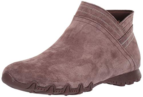 Skechers Women's Bikers MC-Relaxed Fit Short Zipper Bootie Ankle Boot, Brown, 5.5 M US